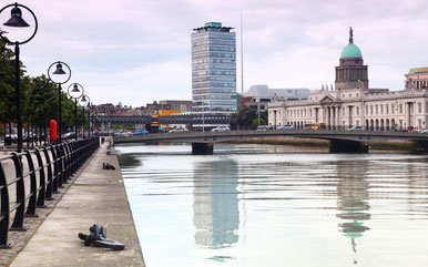 Dublin City River Liffey