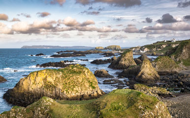 Iron islands Ballintoy Harbour