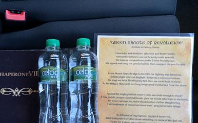 bottled water car seat